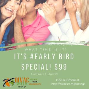 OIVAC 2018 - earlybird price
