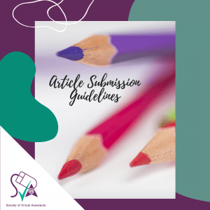 Article Submission guidelines for SVA Virtual Assistants